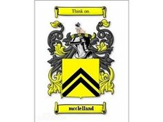 MCCLELLAND Family History Coat of Arms Print - Heritage
