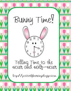 Bunny time - Telling time with bunny face clocks