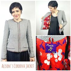 The Sewaholic Cordova Jacket- my very tailored version of this lovely double peplum jacket pattern in a wool mix with a Kokka cotton lining. Peplum Jacket, Jacket Pattern, Wool, Tote Bag, Studio, Sewing, Cotton, Jackets, Blazers