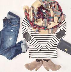 Stripes, plaid and b