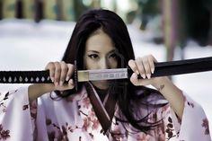 Young samurai woman