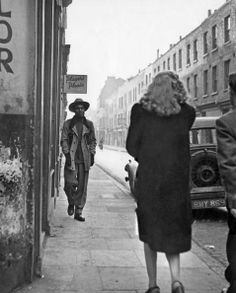 A seaman on leave strolls down Cable Street, Stepney in east London, November Get premium, high resolution news photos at Getty Images Vintage London, Old London, East London, London History, British History, London Street Photography, Vintage Dance, London Photos, Historical Pictures