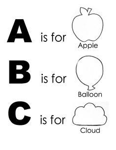 Templates for an alphabet quiet book