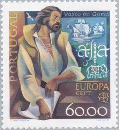 Stamp: C.E.P.T.- Famous people (Portugal) (European CEPT) Mi:PT 1489,Sn:PT 1461,Afi:PT 1465