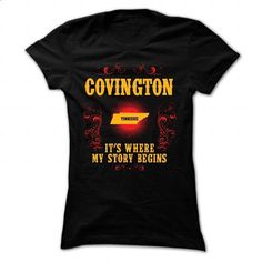 Covington - Its where story begin - #tshirt inspiration #oversized sweater. PURCHASE NOW => https://www.sunfrog.com/Names/Covington--Its-where-story-begin-Black-70116634-Ladies.html?68278
