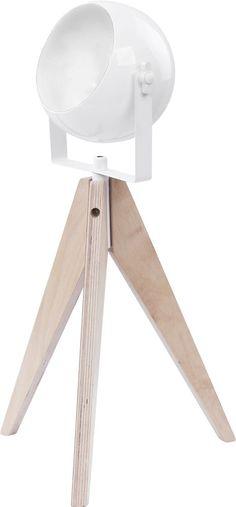 Lampka stołowa Nowodvorski Kwai 1x35W GU10 drewno/biała 6636