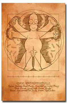 The Simpsons Homer Vitruvian Man Adult Animated Cartoon Comedy TV Television Show Print Poster 22 by 34 *** Read more  at the image link.Note:It is affiliate link to Amazon.