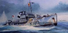 HMCS Collingwood (K180) Royal Canadian Navy, Royal Navy, Dazzle Camouflage, Ship Paintings, Navy Flowers, Navy Ships, Ship Art, Model Ships, Military Art
