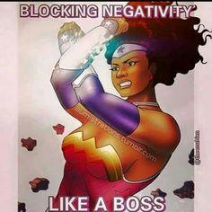 Blocking negativity like a boss Black Love Art, Black Girl Art, Black Is Beautiful, Black Girl Magic, Art Girl, Black Girl Quotes, Black Comics, Black Cartoon, Cartoon Art