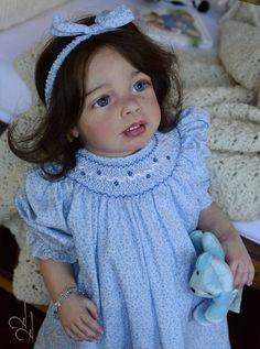 Little Chicks Reborn TODDLER  Eva  Human Hair Jannie de Lange  IIORA * Colliii