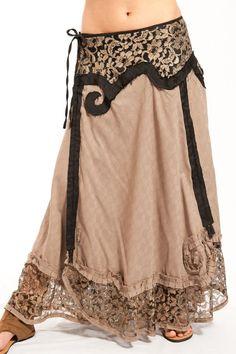 Free spirit long fairy wrap skirt