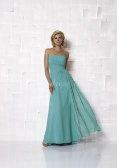 Long Sleeveless Strapless A-line Beading Empire Mother Of The Bride Dress picture 1