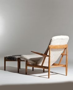 Bendt Winge; #1013 Armchair and Ottoman, 1959.