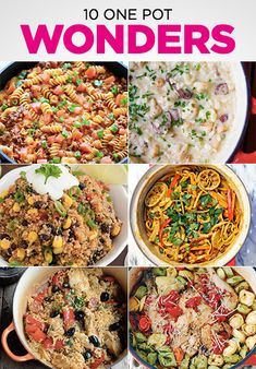 10 One Pot Wonder Recipes for simple and easy dinners.