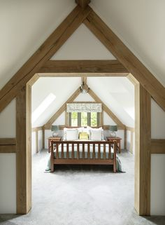 Border Oak vaulted ceiling in a Pearmain Cottage