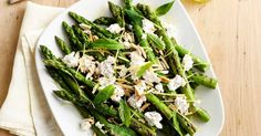 This asparagus side is a delicious addition to a barbecue spread.