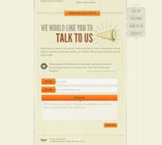 Examples of beautiful contact forms.