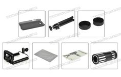 Quality 12X Zoom Camera Lens With Tripod And Hard Case For Samsung Galaxy Note 2 N7100