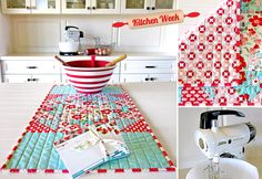 Patchwork Table Runner with Straight Line Quilting tutorial- LOVE THIS ONE