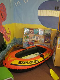 How about a boat as a reading nook? We love it!