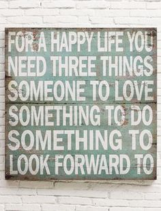 Happy life | quote wall art sign