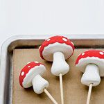 Polymer clay toadstools for your flower pots ~ make your own...