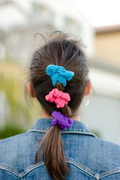 80s Hair Scrunchies! Everyone wore them around their wrists too.  SO MANY!!!!!!!