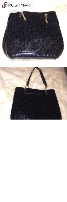 Michael Kors patent leather black purse Never been used. This was a gift from my mother in law that has literally hung in the closet for over a year. Michael Kors Bags Shoulder Bags