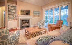 Why are so many people frustrated by unattainable ideals for their living rooms? Staged homes and gorgeous HGTV photos are edited - just as models are phot Hgtv, Living Rooms, Coastal, Blues, Models, People, Photos, Home Decor, Lounges