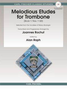 O1594X - Melodious Etudes for Trombone - Book 1: Nos. 1-60 by Joannes Rochut