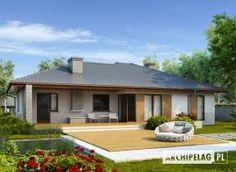 Eris II (wersja C) - projekt domu - Archipelag Bungalow House Plans, Bungalow House Design, Single Storey House Plans, Design Case, Pool Houses, Beautiful Homes, Gazebo, Sweet Home, Floor Plans