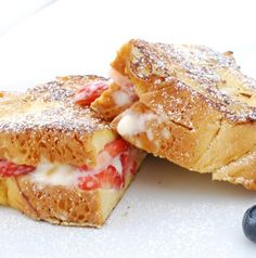Cream Cheese and Fruit Stuffed French Toast