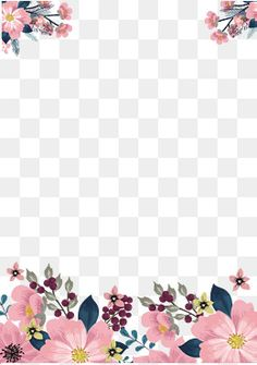 Pintados à mão flor cor - de - Rosa, Summer., No Verão., Quadro Pintado à Mão Imagem PNG
