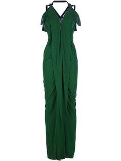 ROLAND MOURET - Vestido Verde Modelo Featherstone .