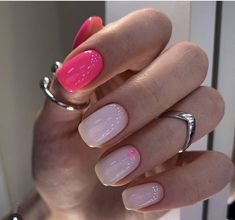 The nail design case in the article is mainly short and medium nails. The clever color matching looks more fashionable. Dream Nails, Love Nails, Pink Nails, How To Do Nails, Pretty Nails, Glitter Nails, Fabulous Nails, Perfect Nails, Classic Nails