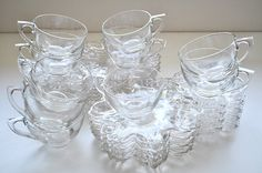 Vintage Glass Snack Set