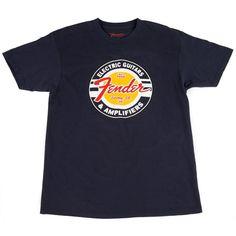 Fender Guitars and Amps Logo Medium T-Shirt - Navy