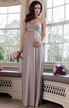 Annabella maternity gown cappuccino - Maternity Wedding Dresses, Evening Wear and Party Clothes by Tiffany Rose Kleider 👗 Maternity Bridesmaid Dresses, Cute Maternity Outfits, Maxi Outfits, Maternity Gowns, Pregnancy Outfits, Maternity Fashion, Wedding Dresses, Maternity Wedding, Tiffany Rose
