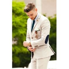 Wedding Suits 2017 slim fit Mens Suits Groom Tuxedos Groomsmen wedding suits for men latest coat pant designs beige Mens Suit (Jacket Pants) Beige Suits, Tweed Suits, Men's Suits, Groom Tuxedo, Tuxedo For Men, Tuxedo Jacket, Suit Jacket, Costumes En Tweed, Terno Slim Fit