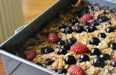 Berry Baked Oatmeal Recipe  Serves 8  Prep time: 15 minutes Cook time: 40 minutes  The Skinny Per 3/4 cup: 196 cal 5.2 g fat 32.9 g carbs 17...