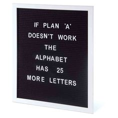 The Design Gift Shop - IS | Large Felt Letter Board A3 | Black and White, AUD 49.90 (https://www.thedesigngiftshop.com/is-large-felt-letter-board-a3-black-and-white/)