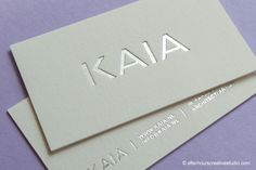 Cotton Business Cards - silver-foil-blocked-business-card...!!!