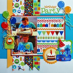 Two cute layouts in this blog post from Doodlebug. I love their border stickers and I like this idea for using them in a new way.