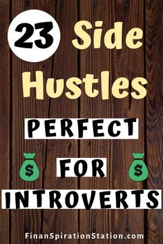 23 Side Hustles Perfect for Introverts Make more money with these 23 side hustle ideas. All of these side hustles require little face-to-face interaction which makes them ideal for introverts or people who want to make money online. Earn Money From Home, Earn Money Online, Make Money Blogging, Saving Money, Money Fast, Money Tips, Money Budget, Managing Money, Quick Money