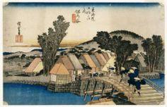 Japanese painter and printmaker Hiroshige (1797-1858) | Hodogaya, Shinkame Bashi, Station 5  - 1834