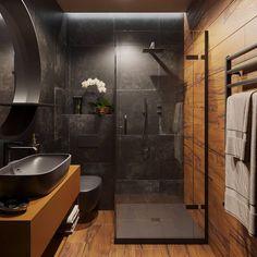 57 Modern bathroom that everyone should try this year - furnishings . - 57 Modern bathroom that everyone should try this year – Interior experts – Home interior design - Loft Bathroom, Dream Bathrooms, Small Bathroom, Master Bathroom, Wooden Bathroom, Coolest Bathrooms, Industrial Bathroom, Bathroom Faucets, Rain Shower Bathroom