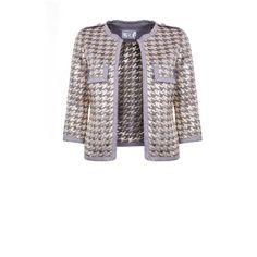 Be a Star Jacket via Polyvore featuring outerwear, jackets, star jacket, white jacket, silver jacket, embellished jacket i pocket jacket