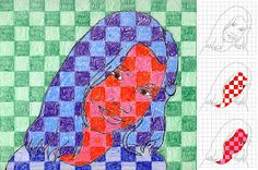 Art Projects for Kids: Chuck Close Portraits. abstract -- i think the masters would love this.