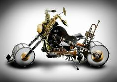 motorcycle made from musical instruments