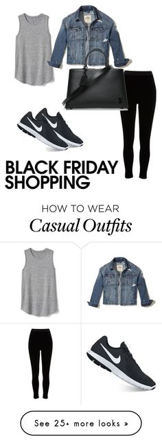 """Casual shopping"" by kathrynmarieheiman on Polyvore featuring River Island, Gap, NIKE, Hollister Co. and Louis Vuitton"